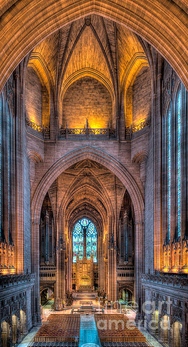 Ghost In The Cathedral Print by Adrian Evans
