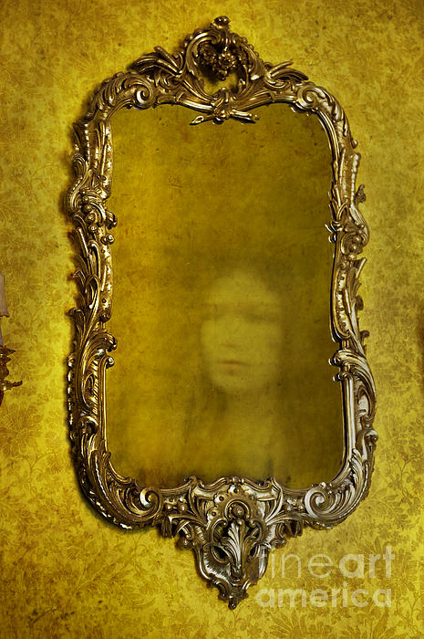 Ghost Of A Woman Reflected In A Mirror Print by Lee Avison