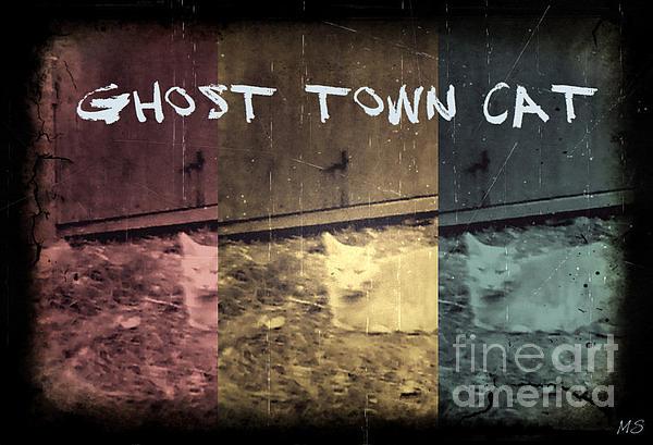 Ghost Town Cat Print by Absinthe Art By Michelle LeAnn Scott