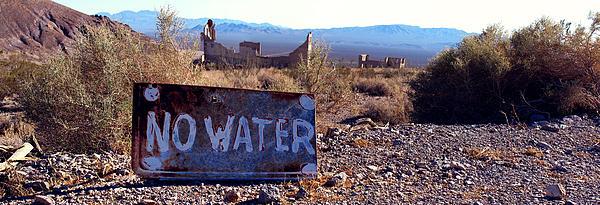 Ghost Town - No Water Print by Maria Arango