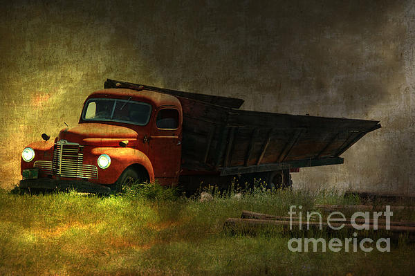 Ghost Truck Print by Vickie Emms