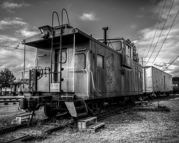 Ghostly Caboose Print by James Barber