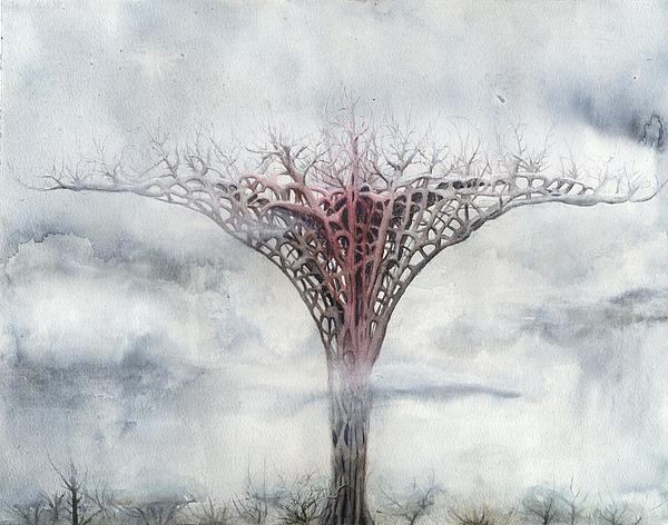 Giant Plant Print by Bjorn Eek