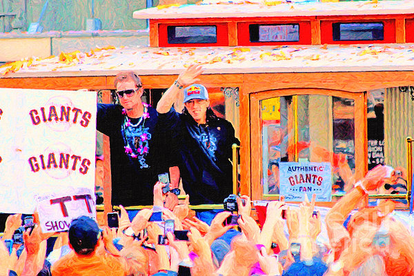 Giants 2010 Champions Parade 2 . Photo Artwork Print by Wingsdomain Art and Photography