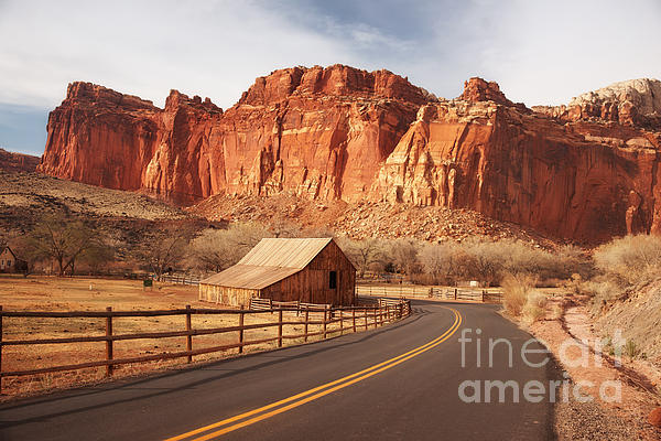 Gifford Barn At Capitol Reef National Park Print by Carolyn Rauh