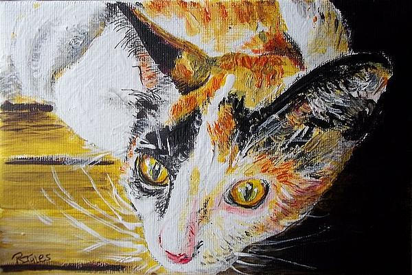 Ginger Stray cat Painting