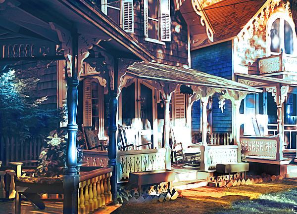 Gingerbread Houses Print by Christo Christov