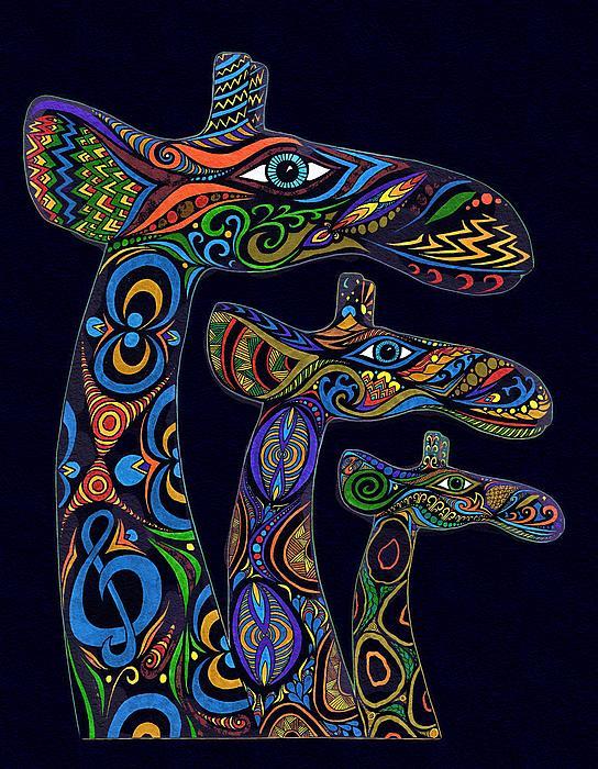 Michael Vicin - Girafes - Decorative Drawing