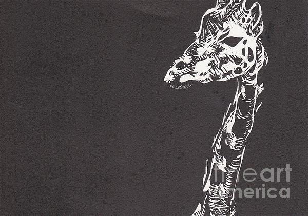 Giraffe Print by Alexis Sobecky