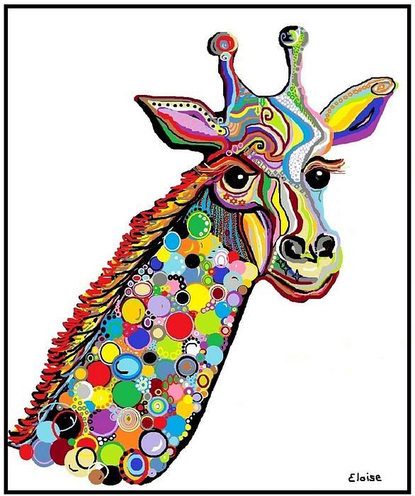 Giraffe Print by Eloise Schneider
