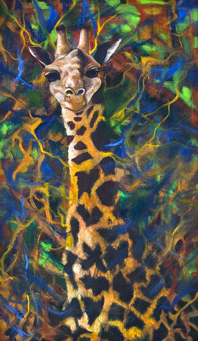 Giraffe Print by Kd Neeley