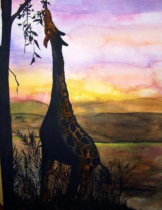 Giraffe Print by Laneea Tolley