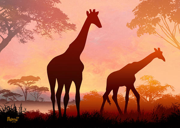 Anthony Mwangi - Giraffe Twilight
