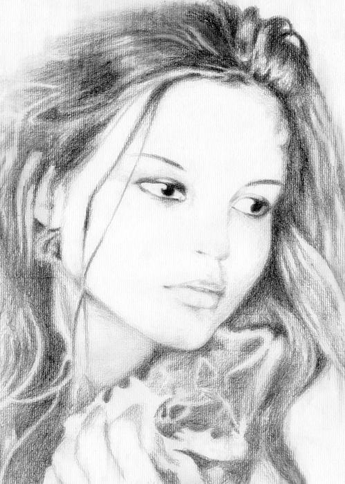 Girl Print by Ahmed Amir