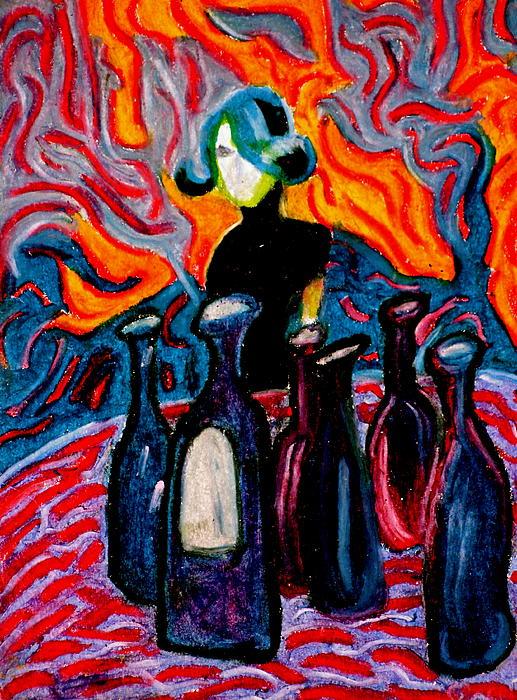 Girl In Bar Print by Josh  Williams