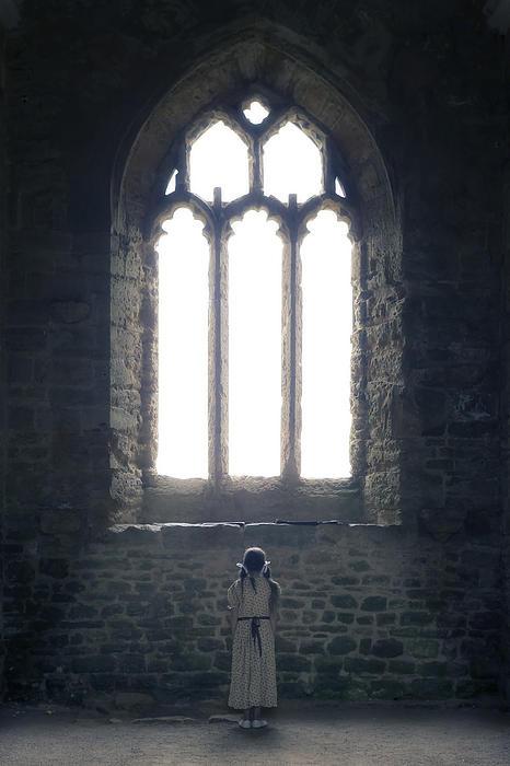Girl In Chapel Print by Joana Kruse
