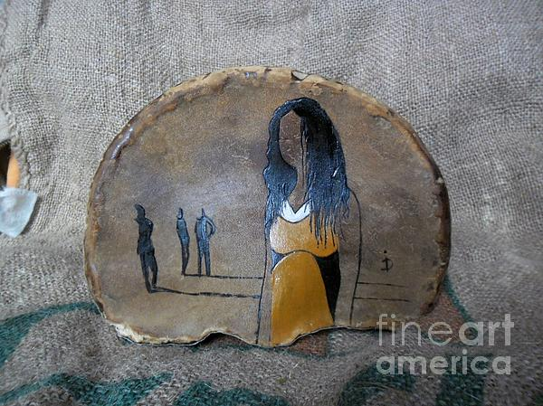 Girl In Yellow Print by Ildiko Decsei