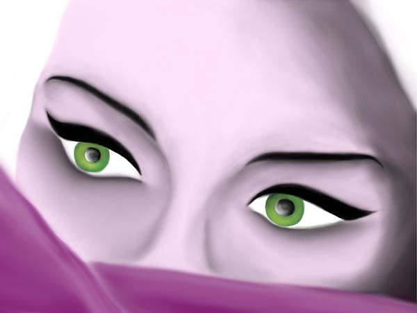 Girl's Eyes Print by Sara Ponte