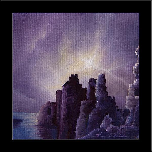 Girnigoe Castle Print by James Christopher Hill