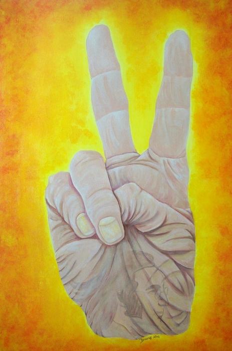 Give Peace A Chance. By Richard Brooks. Print by Fine Artist Richard Brooks