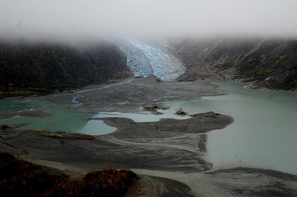 Glacier North Of Juneau Print by Sarah  King