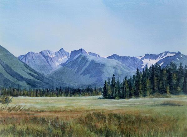 Glacier Valley Meadow Print by Sharon Freeman
