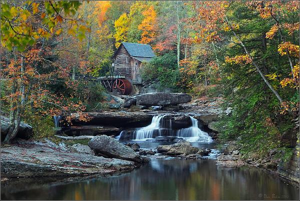 Glade Creek Grist Mill Print by Daniel Behm