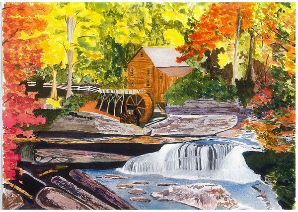 Glade Creek Grist Mill Print by David Bartsch