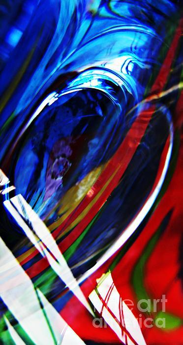 Glass Abstract 293 Print by Sarah Loft