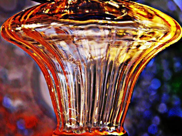 Glass Abstract 562 Print by Sarah Loft