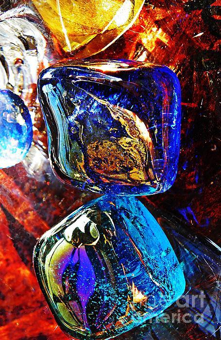 Glass Abstract 685 Print by Sarah Loft