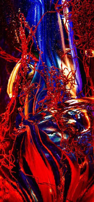 Glass Macro Abstract Flames Print by David Patterson