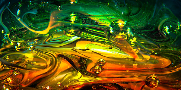 Glass Macro Abstract Rgo1ce2 Print by David Patterson