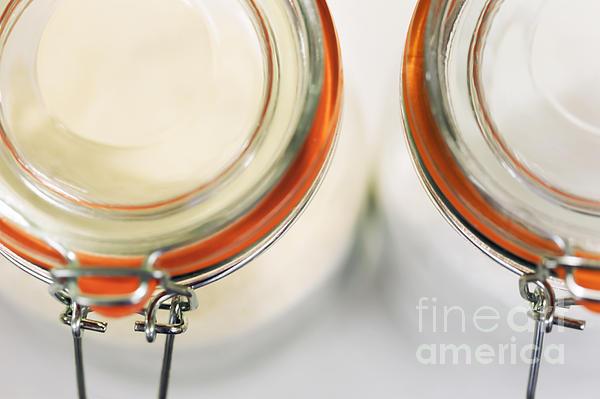 Glass Sugar Jars Print by Natalie Kinnear