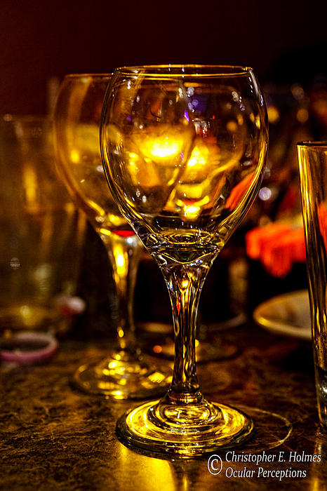 Glasses Aglow Print by Christopher Holmes