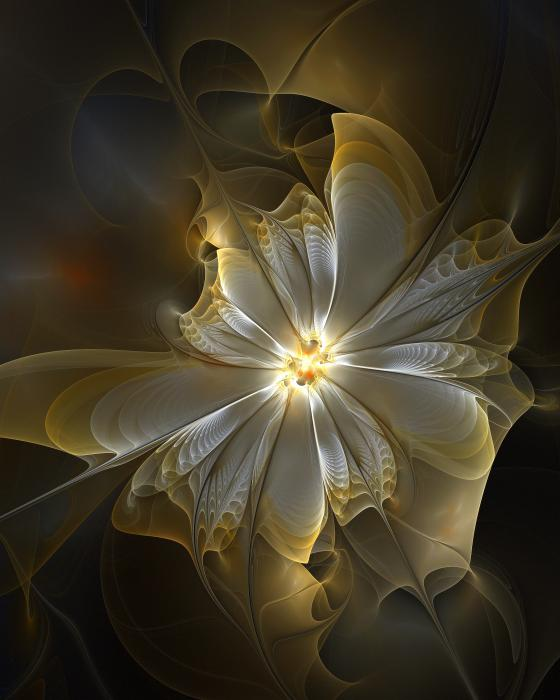 Glowing In Silver And Gold Print by Amanda Moore