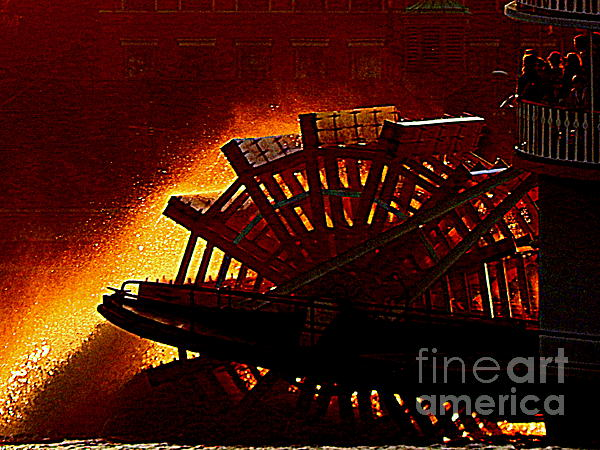Go Fourth Of July On The Mississippi River Aboard The Steam Boat Natchez In New Orleans Louisiana Print by Michael Hoard