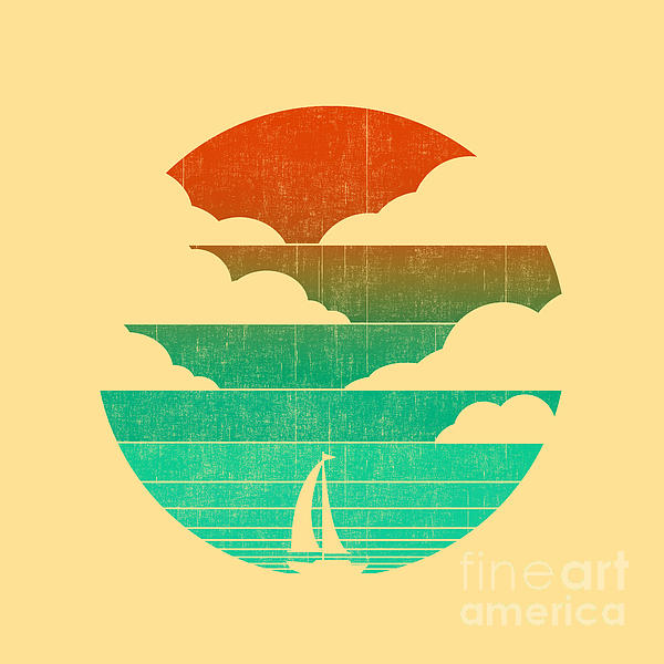 Go West In Your Sailing Boat Print by Budi Satria Kwan