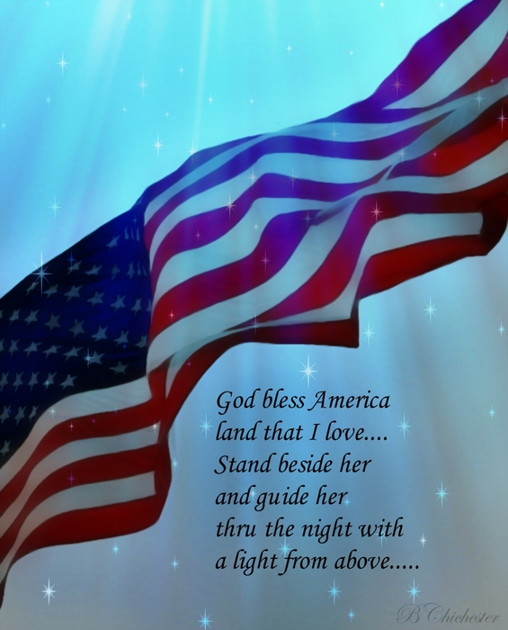 God Bless America Print by Barbara Chichester
