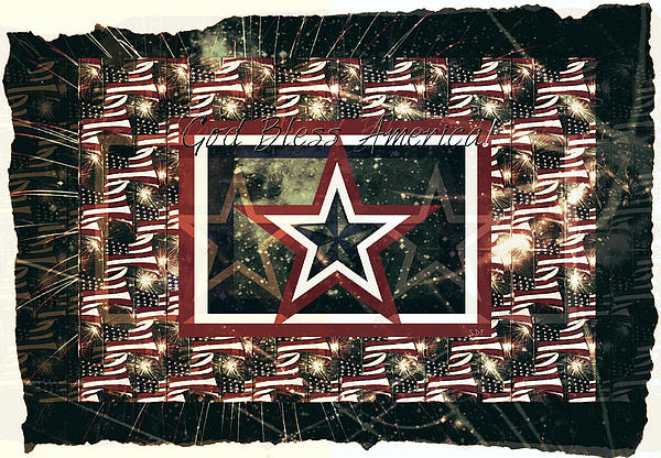 God Bless America Print by Sherry Flaker