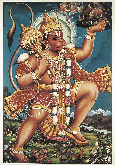 God Hanuman. Hindu Art. � Aisaeverett Print by Everett