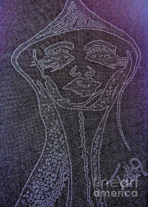 Goddess Archetype Of Allowing Print by Lady Picasso Tetka Rhu