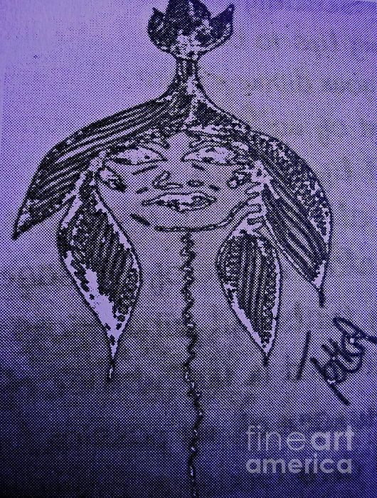 Goddess Archetype Of Good Fortune Print by Lady Picasso Tetka Rhu
