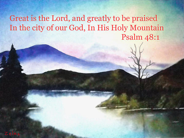 God's Holy Mountian Print by Zelma Hensel