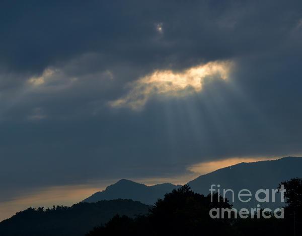 Gods Morning Rays Print by Eva Thomas