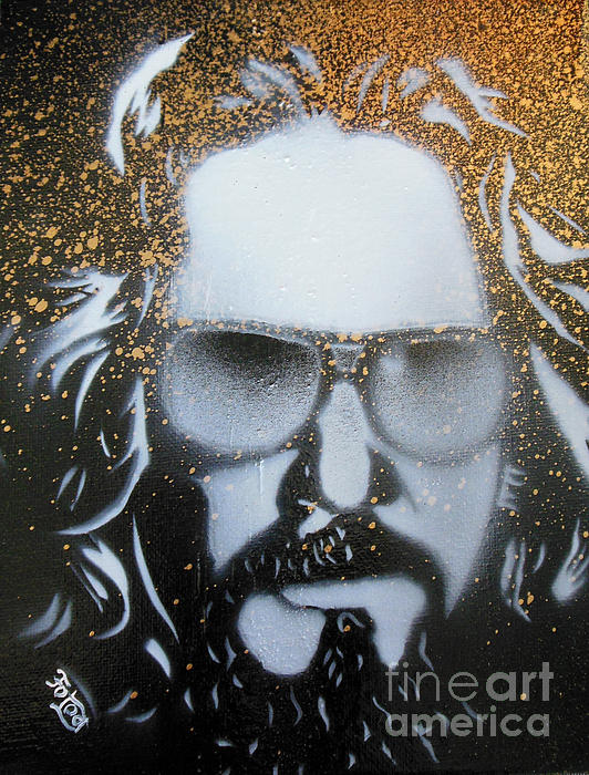 Gold Dude Print by Christopher  Chouinard