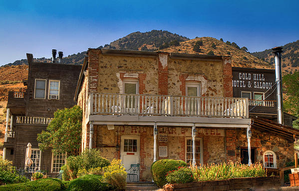 Gold Hill Hotel And Saloon Print by Donna Kennedy