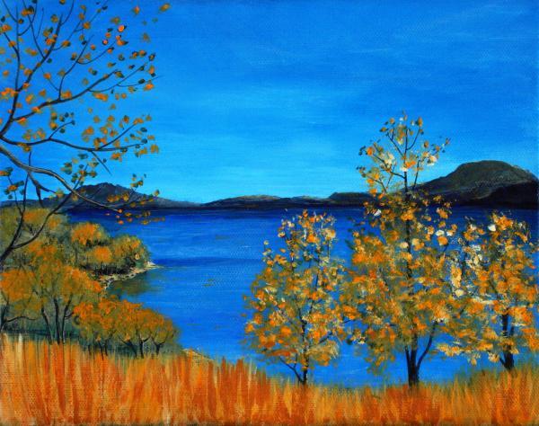 Golden Autumn Print by Anastasiya Malakhova
