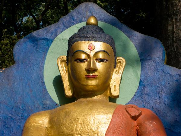 Golden Buddha Print by Nila Newsom