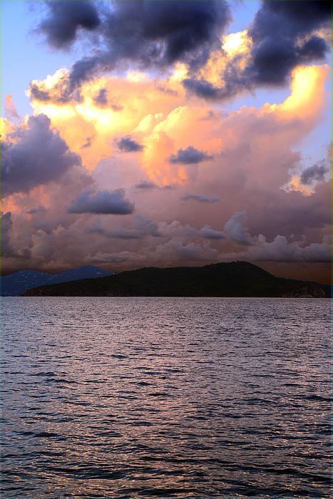 Golden Clouds Print by    Michael Glenn